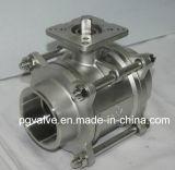 BACCANO d'acciaio di fabbricazione 3PC della Cina 259/2999 di valvola a sfera del filetto