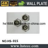 118 module de vente chaud du type trois BNC pour la plaque de mur de soudure de vidéo surveillance