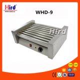 Machine électrique de traitement au four de matériel d'hôtel de matériel de cuisine de machine de nourriture de matériel de restauration de BBQ de matériel de boulangerie de la CE du gril de hot dog de rouleau (WHD-9)