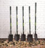 Las herramientas de jardín forjaron la pala redonda de la espada sostenida de acero con la maneta de la fibra de vidrio