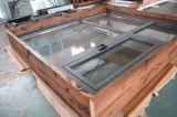Guichet en aluminium de tissu pour rideaux de profil d'interruption thermique de la qualité Kz318 avec le bâti multi de blocage et en bois
