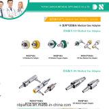 Adaptador/ponta de prova/rapidamente conetor médicos do gás do padrão britânico