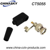 CCTV Solderless Coaxial Cable Connector Male BNC con Boot (CT5055)
