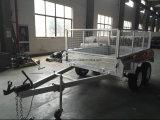 Rimorchio in tandem completamente galvanizzato tuffato caldo standard del contenitore di saldatura 10X6 dell'Australia con la gabbia