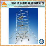 Échafaudage en aluminium de double largeur, échafaudage d'échelle de montée, tour d'échafaudage (SDW-01)