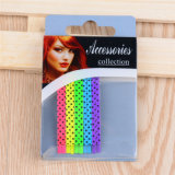 Dame Fashion Colorful Painted Metalhaar-Verzierungbob-Stifte (JE1007)