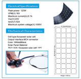 Épreuve de l'eau IP65 pour le panneau solaire 120W flexible avec l'UL