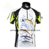 Short Rapido-Drying Sleeve Fishing Jersey con Sublimation Printing