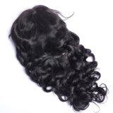 ブラジルのレースの前部人間の毛髪のかつらの赤ん坊の毛によって漂白される結び目との緩い波様式130%の密度125g-225g