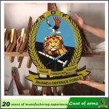Emblème adapté aux besoins du client en métal du Rwanda 3D