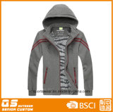 A forma dos homens ostenta a parte superior longa de Hoody do Zipper