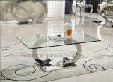 家具の工場を食事する新しい現代上のガラスダイニングテーブル