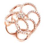 925 кец стерлингового серебра для женщин, высокого Polished кольца R10556