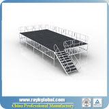 Aluminiumrahmen-hölzerne Plattform-im Freienstadium
