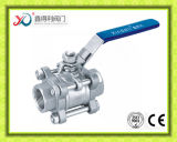 Robinet à tournant sphérique de l'usine 3pieces TNP de la Chine du moulage de précision