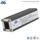 Protecteur de saut de pression de RJ45 du gigabit 1000m de réseau Ethernet d'alliage d'aluminium
