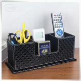 Offie를 위한 PU Leather Wholesale 다중 Function PU Leather Desk Organizer