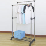 Meshのステンレス製のSteel Double Pole Clothes Hanger
