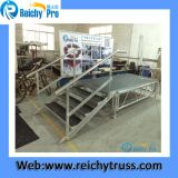 Fase registrabile della piattaforma portatile esterna di alluminio della fase