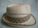 Sombrero de paja cosido del sombrero de ala de la trenza de papel