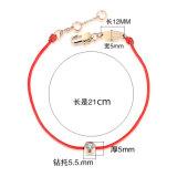 De Armband van het Koord van Rde van de Armband van de Diamant van de Juwelen van de Manier van de Armband van het roestvrij staal