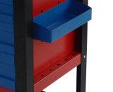 550 фунтов Heavy Duty Роллинг Инструмент Грудь шкаф с ящиками 5 - Красный и синий