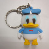 Alta qualità Plastic Promotional 3D Gift Silicon Keychain (kc-067)