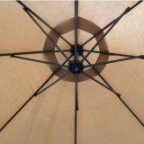 Зонтик патио Tan напольного рынка смещения 10 ' вися новый, бежевый