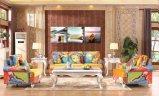 Muebles de cuero modernos 2016 del sofá del modelo nuevo