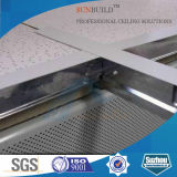 el panel de techo acústico de la fibra mineral