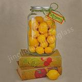 De grote Vierkante Kruik van de Metselaar van het Suikergoed van de Vorm/de Kruik van het Glas van de Honing van de Opslag