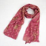 Form-Herbst-langer Polyester-Voile-Frauen-Drucken-Rot-Schal