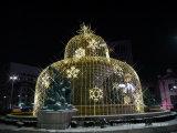 Decorazione di festa di natale dell'indicatore luminoso di motivo del fiocco di neve del LED