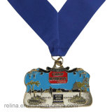 Medalha feita sob encomenda do metal do evento da concessão do corredor da maratona