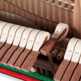 Piano C23W droit de clavier en bois plein
