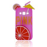 Nette weiche rosafarbene Silikon-Kasten-Karikatur für iPhone 7 Deckel des Handy-7plus (XSP-004)