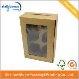 Boîte faite sur commande à gâteau de papier d'emballage de fenêtre (QYZ022)
