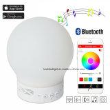 Luz sem fio portátil da noite do diodo emissor de luz do altofalante de Bluetooth