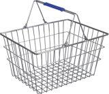 L'estetica del supermercato memorizza il cestino di acquisto dorato del collegare