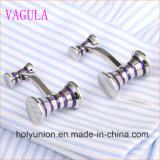 Conexiones de pun¢o francesas del martillo del esmalte de la camisa de los hombres de VAGULA Gemelos 356