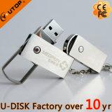 Vara feita sob encomenda por atacado do USB do giro do metal do OEM do logotipo