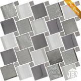 Europeo nuevo diseño de pared decoración de color gris mosaico de vidrio (m855162)