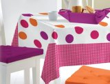 Tablecloth plástico impresso material do PVC do estilo da manta