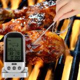 Termômetro sem fio do forno do assado da cozinha do cozinheiro Home e de carne da escala longa de Digitas da grade com temporizador