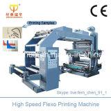 Machine d'impression de Flexo de 4 couleurs avec le rouleau en céramique d'Anilox