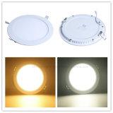 Dünne Gehäuse-Beleuchtung-Decke der LED-Panel-Lampen-12W runde beleuchten unten