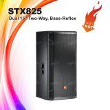 """Stx825は15 """"対面専門の段階のスピーカーボックス二倍になる"""