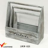 新しいハンドメイドのスラット木製型木プランターバスケット