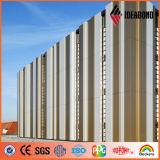 Pannello di rivestimento di alluminio della parete esterna metallica dorata di PVDF (AF-401)