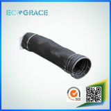Tela filtrante negra resistente de humo del tubo de la fibra de vidrio de la calefacción excelente